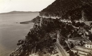 Nice Monaco Road France old Gilletta Photo 1880'