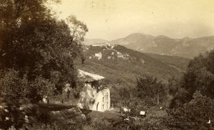Falicon around Nice France old Gilletta Photo 1880'