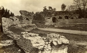 Cimiez ruins around Nice France old Gilletta Photo 1880