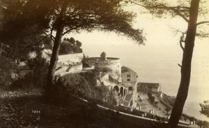 Nice, Lesage stairs France old Gilletta Photo 1880'