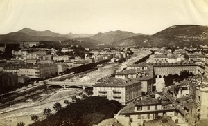 Nice, Paillon Valley France old Gilletta Photo 1880'