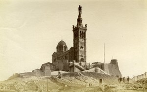 Marseille, Notre Dame de la Garde France old Photo 1880