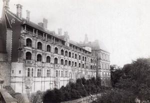 Blois Castle François Ier facade France old Photo 1899