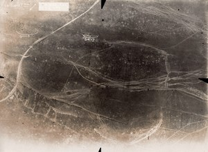 Trench Aerial view France First World War WWI 1916'