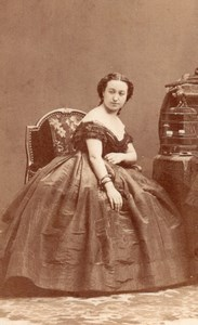 Mlle Altieri Soprano Early Opera old CDV Photo 1860'