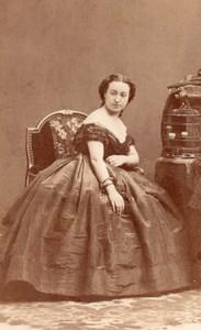 Mlle Altieri Soprano Early Opera old CDV Photo 1860'