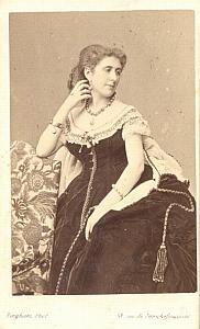 Blanche Baretti Soprano Early Opera old CDV Photo 1860'