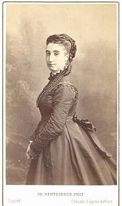 Marie Battu Soprano Early Opera old CDV Photo 1870'