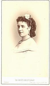 Rosine Bloch Mezzo-Soprano Early Opera CDV Photo 1870'