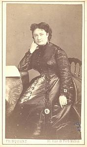 Marie Cabel Soprano Early Opera old CDV Photo 1870'