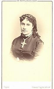 Carvalho-Miolan Soprano Early Opera old CDV Photo 1870'