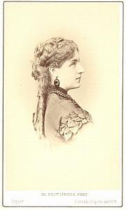 Fides Devries Soprano Early Opera old CDV Photo 1870'