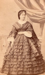 Mlle Dottini Early Opera Theatre old CDV Photo 1860'