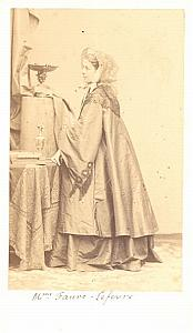 Faure Lefebure Soprano Early Opera old CDV Photo 1860'