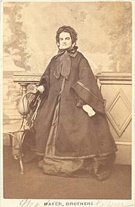 Josepha Gassier Soprano Early Opera old CDV Photo 1860'
