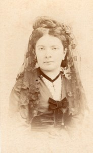 Godfrend Mezzo-Soprano Early Opera old CDV Photo 1860'