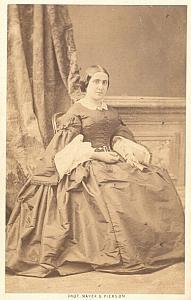 Gueymard Lauters Mezzo Soprano Opera old CDV Photo 1860