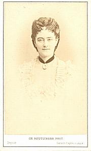 Mlle Hamakers Soprano Early Opera old CDV Photo 1870'