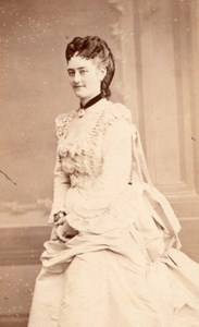 Mlle Hamakers Soprano Early Opera old CDV Photo 1870'