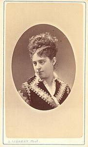 Marie Heilbronn Soprano Early Opera old CDV Photo 1870'