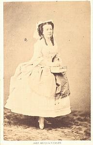 Marie Lemercier Early Opera old CDV Photo 1860'