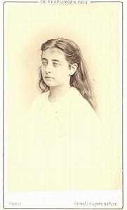 Pauline Lucca Soprano Early Opera old CDV Photo 1870'