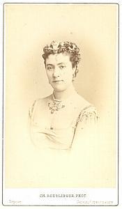 Louise Marquet ballet girl Early Opera CDV Photo 1870'