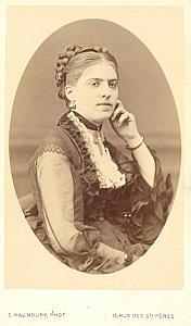 Mlle Mauduit Soprano Early Opera old CDV Photo 1870'
