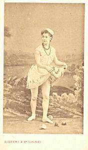 Mlle Monterau Soprano Early Opera old CDV Photo 1860'