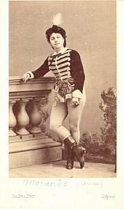 Mlle Morando Soprano Early Opera old CDV Photo 1860'