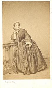 Moreau Sainti Soprano Early Opera old CDV Photo 1860'