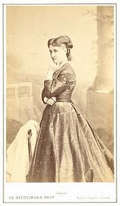 Aglaya Orgeni Soprano Early Opera old CDV Photo 1870'