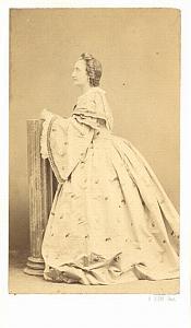Andrea Pancani Soprano Early Opera old CDV Photo 1860'