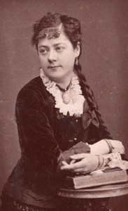 Mlle Passerin Contralto Early Opera old CDV Photo 1880'