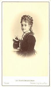 Adelina Patti Soprano Early Opera old CDV Photo 1860'
