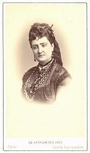 Carlotta Patti Soprano Early Opera old CDV Photo 1860'