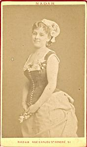 Aline Prelly Mezzo Soprano Early Opera CDV Photo 1870'