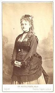 Priola Early Opera Singer old CDV Photo 1860'