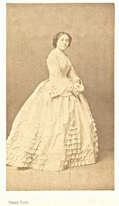 Mlle de Rozieres Soprano Early Opera old CDV Photo 1860