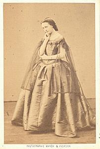 Mlle Sarolla Soprano Early Opera old CDV Photo 1860'