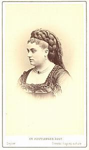 Marie Sass Soprano Early Opera old CDV Photo 1860'