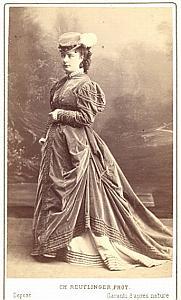 Berthe Thibault Soprano Early Opera old CDV Photo 1860'
