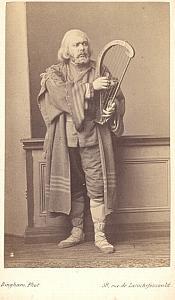 Eugene Bataille Bass Early Opera old CDV Photo 1860'