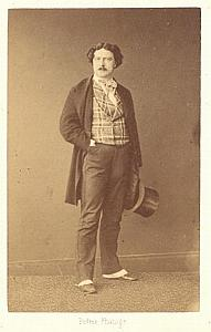 Charles Bataille Basse Early Opera old CDV Photo 1860'