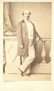 Beneventano Tenor Early Opera old CDV Photo 1860'