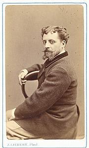 Victor Capoul Tenor Early Opera old CDV Photo 1860'
