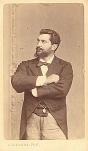 Pedro Gailhard Basse Early Opera old CDV Photo 1870'