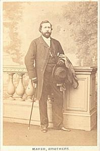 Edouard Gassier Baryton Early Opera old CDV Photo 1860'