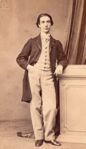 Gourdin Tenor Early Opera old CDV Photo 1860'