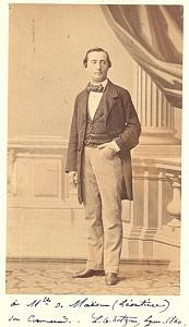 L.G. Hotzeau Tenor Early Opera old CDV Photo 1860'